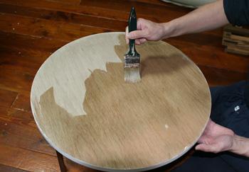 円形パネル・丸いパネル・布貼り・目止め・サイズ引き・側面貼り・包貼り